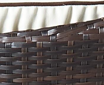 Brown Luxury Rattan Detail