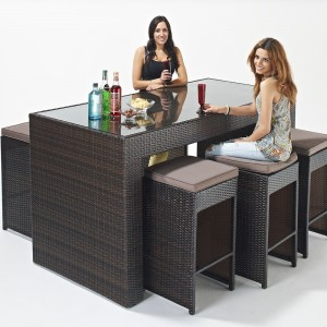 Elegant Sophia Rattan Bar