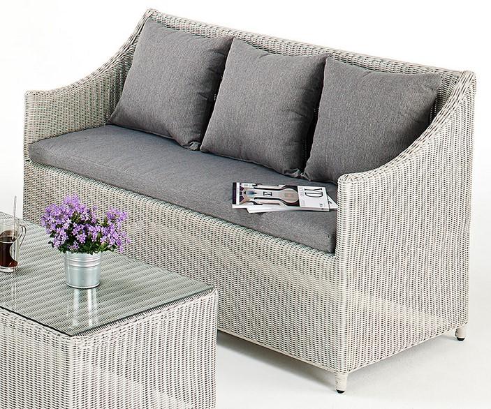 Kathleen contemporary rattan sofa set all weather rattan for Modern rattan sofa