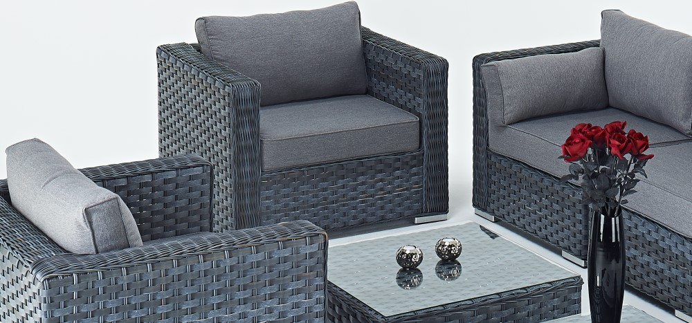 Grey Rattan Sofa Sets