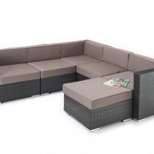 Jessica Elegant Rattan Corner Sofa Set