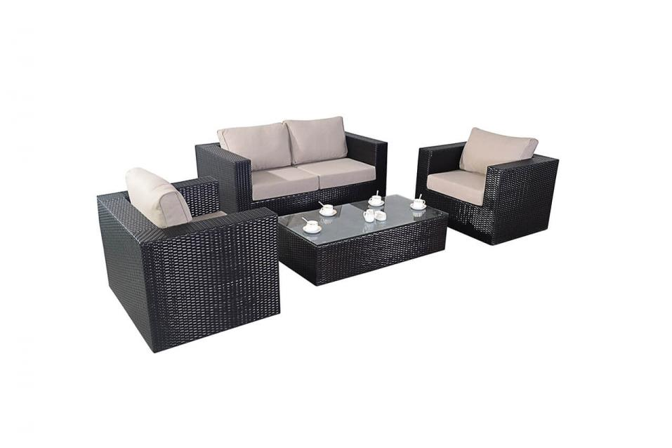 Ella rattan sofa set all weather rattan garden furniture for All weather garden furniture