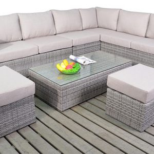 Sophia Verdant Rattan Corner Group Sofa Set